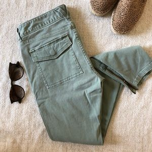 Vineyard Vines Green Pants with Ankle Zippers